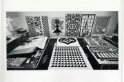 Alexander Girardm, designing his Environmental Enrichment Panels, ca. 1971, photo: Charles Eames, Alexander Girard Estate, Vitra Design Museum